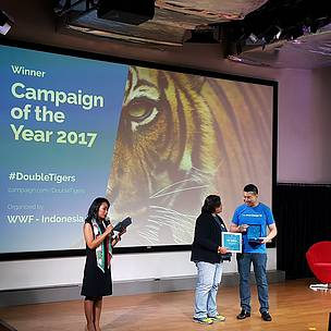 Kampanye #DoubleTigers memenangkan Campaign of the Year 2017.