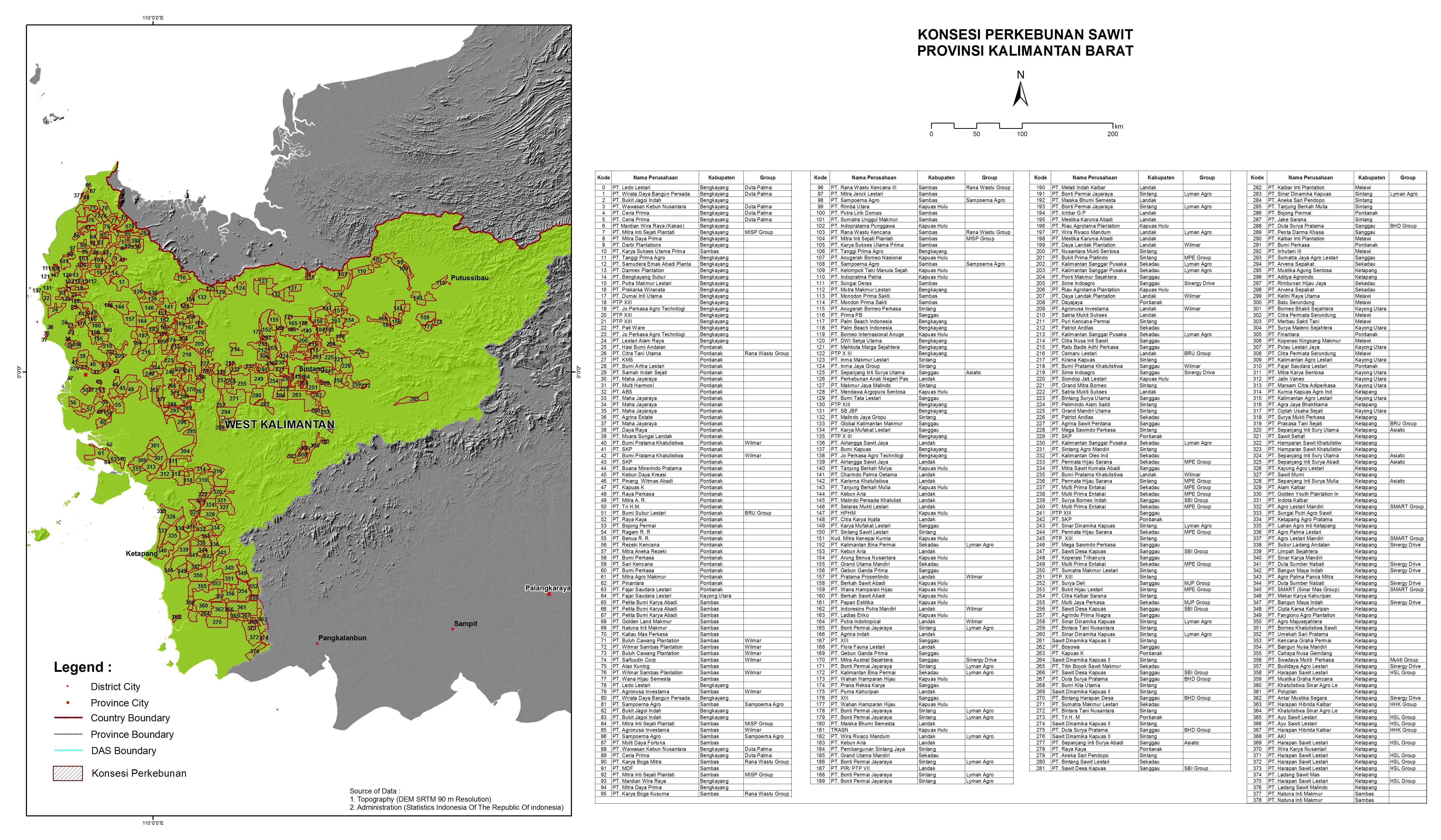 Peta Konsesi Perkebunan Sawit | WWF Indonesia