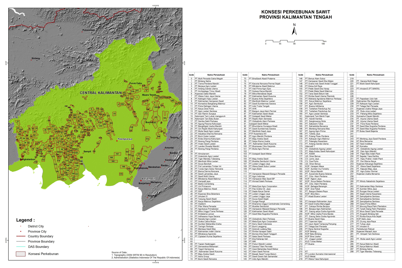 Peta Konsesi Perkebunan Sawit